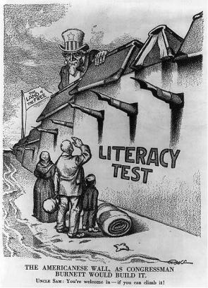 political cartoon United States immigration from 1900s
